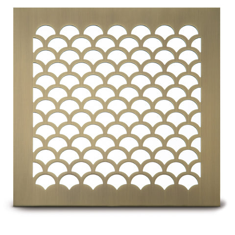 "207 Shell Perforated Grille: 1 1/8"" pattern - 56% open area"