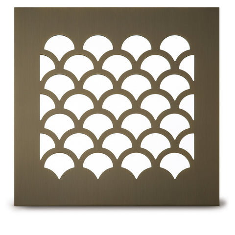 "207 Shell Perforated Grille: 1¾"" pattern - 72% open area"