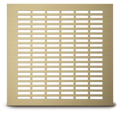 "210 School Slot Perforated Grille:5/16"" x 1 3/8"" pattern - 43% open area"