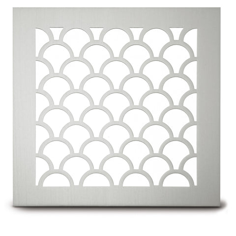 "221 Tear Drop Perforated Grille: 1¾ x 1 9/16"" pattern - 66% open area"