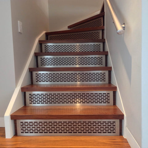 Stair risers treads architectural grille - Interior stair treads and risers ...