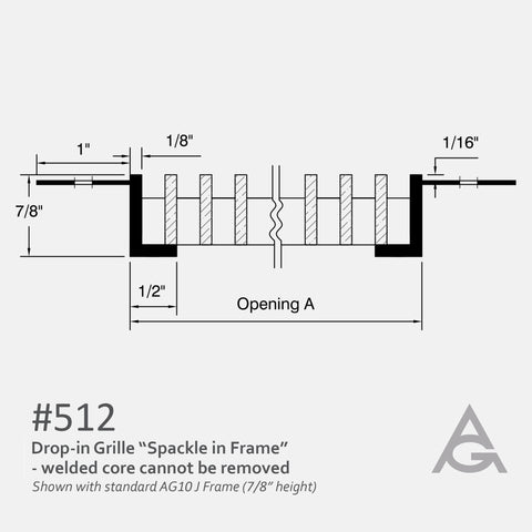 Spackle In J-Frame Bar Grille