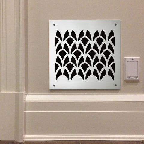 "226 Cathedral Perforated Grille: 2¼"" x 2 3/16"" pattern - 57% open area"