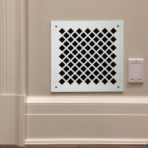 "205 Diamond Perforated Grille: ½"" with ¼"" bar - 45% open area"