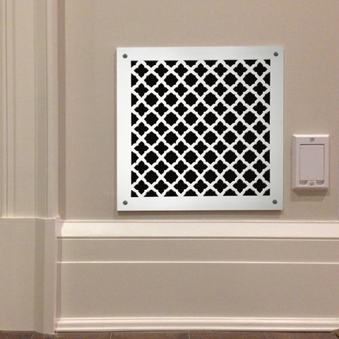 "214 Gothic Perforated Grille: 1 1/16"" pattern - 58% open area"