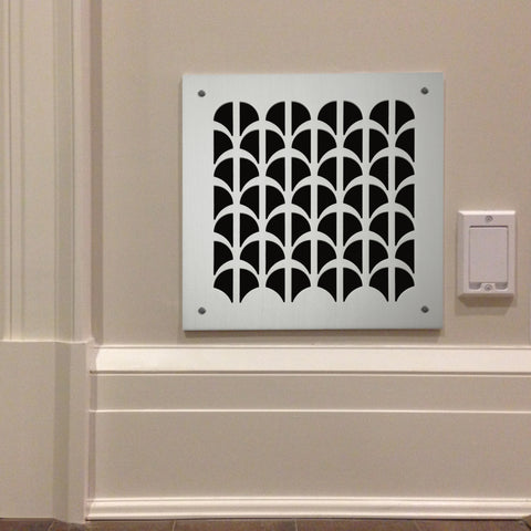 "209 Half Shell Perforated Grille: 1¾"" pattern - 68% open area"