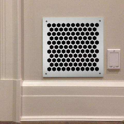 "203 Honeycomb Perforated Grille: ¾"" pattern - 50% open area"