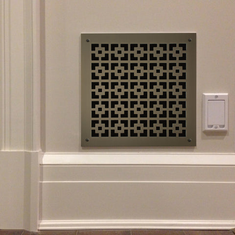 "200 Square Link Perforated Grille: 1¾"" pattern - 49% open area"