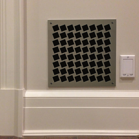 "216 Square On Diamond Perforated Grille: 1"" pattern - 64% open area"