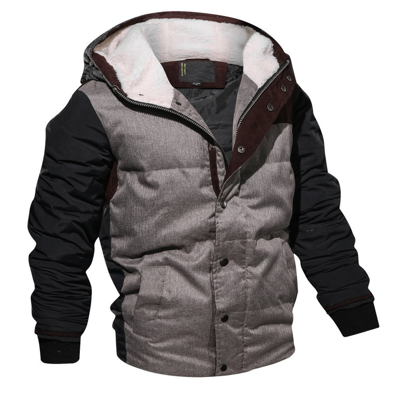 Thickened Hooded Winter Outfit Men's Coats