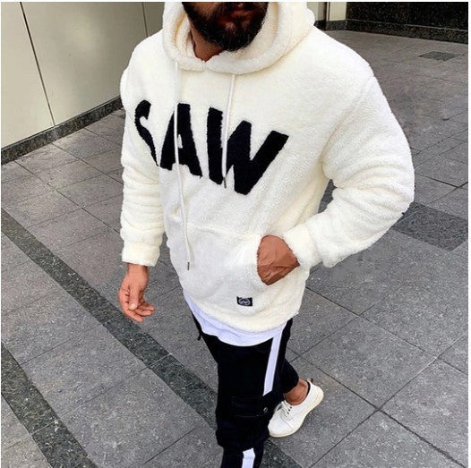 Solid Color Sweater Hoodie Coats