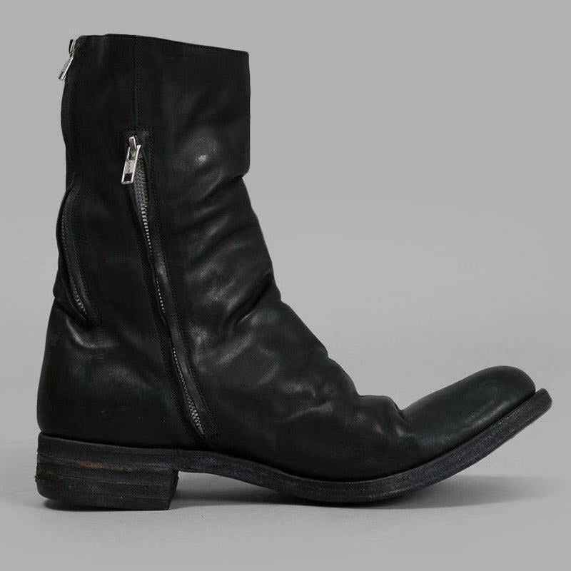 Men's Fashion Round Ankle Boots
