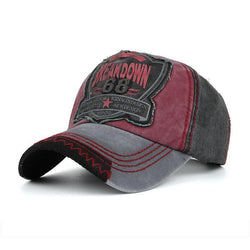 Washed Denim Embroidered Letter Pattern Breathable Sunshade Baseball Cap