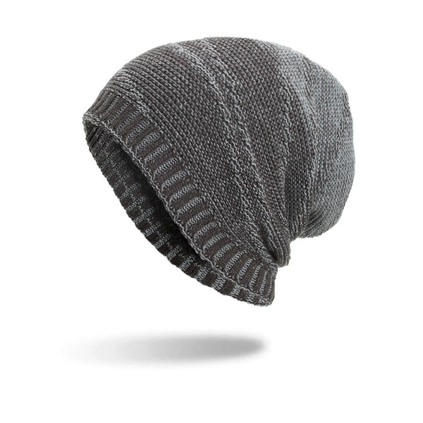 Winter Knit Caps Plush Lining Warm Skullies Casual Baggy Beanie