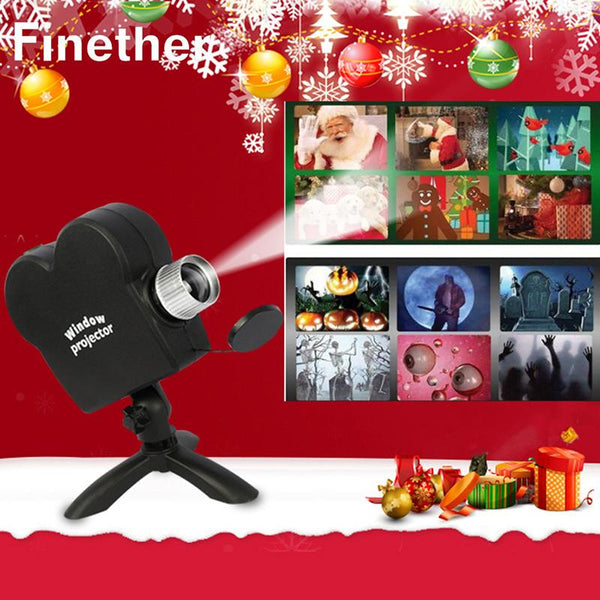 Christmas Halloween Movies Displays Window Projector Home