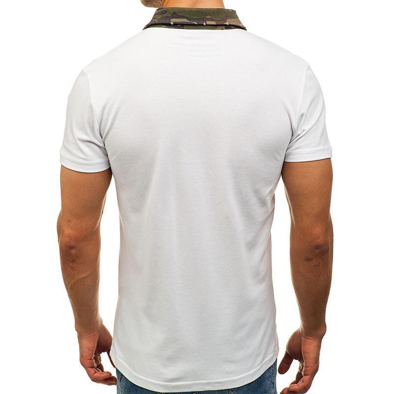 Summer Leisure Golf Shirts Turn-down Collar Loose Solid T-shirts