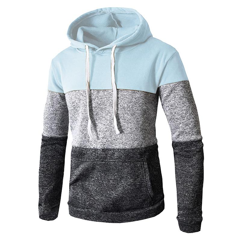 Men's Fashion  Casual Solid Color Sports Hoodies