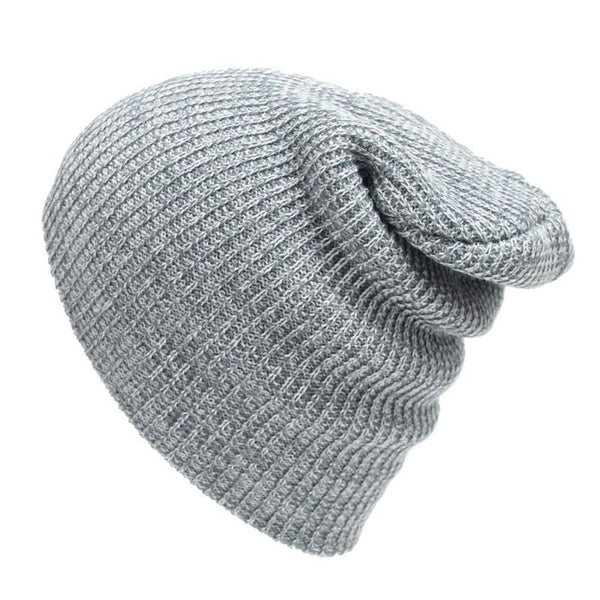 Winter Casual Cotton Knit Cap Baggy Beanie Crochet Cap Outdoor Ski Cap