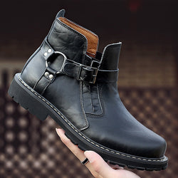 Male Chelsea Round Head Short Martin Boots
