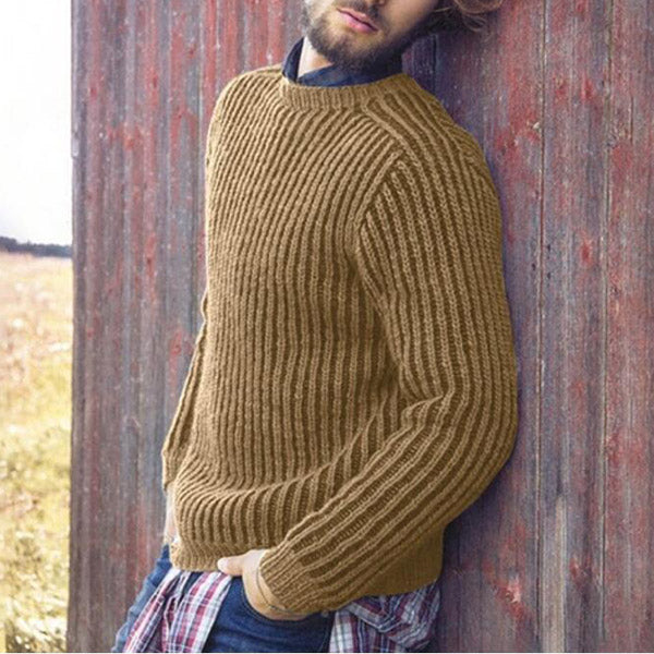 Men's Solid Color Sleeve Sweaters