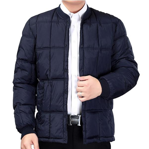 Mens Fashion Casual Warm Solid Color Coat