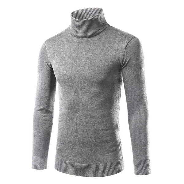 Men's Solid Color Lapel Autumn and Winter Sweater Sweater