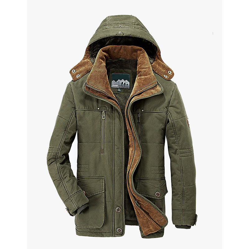 Men's Thick Section Middle-aged Jackets