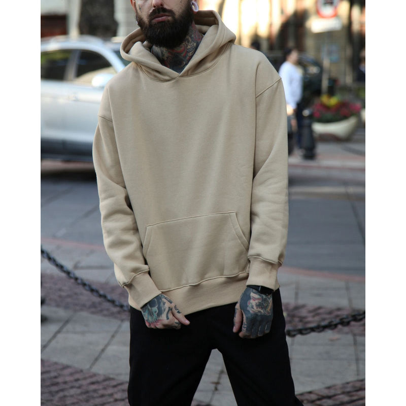 Oversize Plush Thickened Solid Color Hoodies