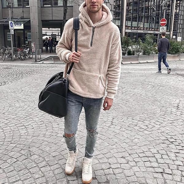 Men's Solid Fashion Hooded Coats