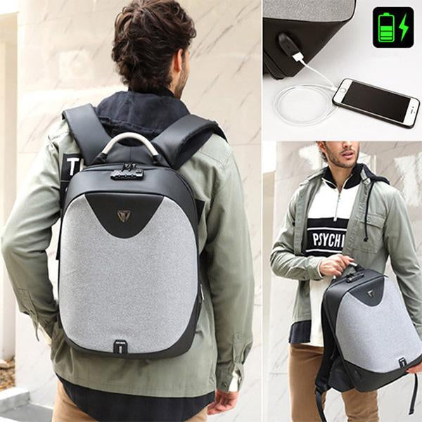 Mens Antitheft Backpack Laptop Business Backpack with USB Charging Port