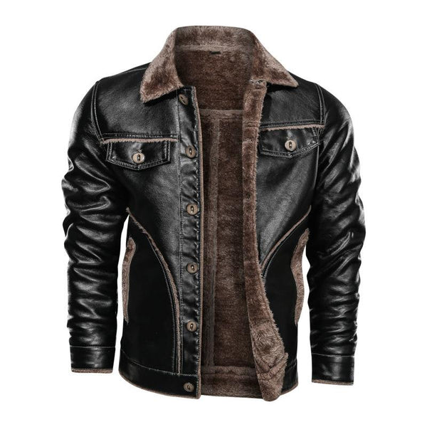 Men Plus Size Fashion Plush Fleece Warm Jackets