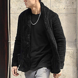 Fashion Men's Plain Loose Cool Button Coat