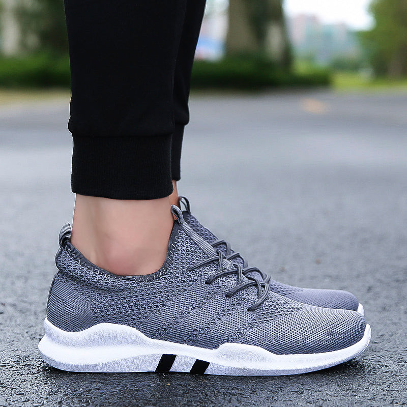 Men's Flying Woven Shock Absorption Wear Student Outdoor Sports Shoes