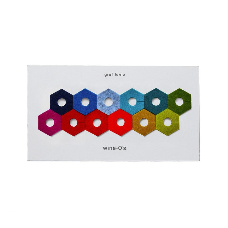 Wine-O's | MERINO WOOL HEXAGONS - 12 Piece Set