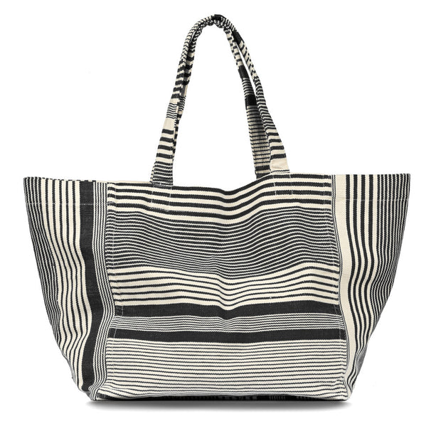 Blanca Tote in Black Stripes