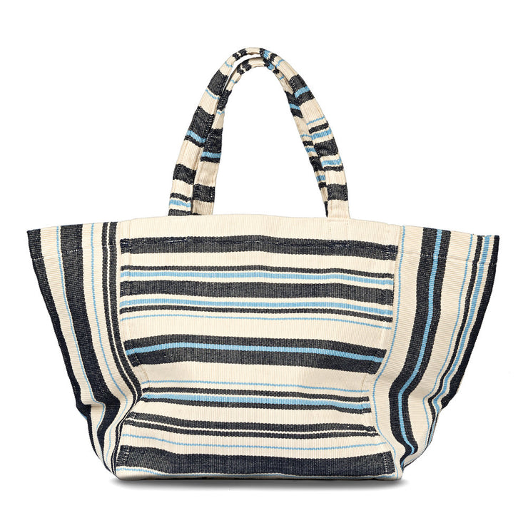 Blanca Tote in Ocean Blue Stripes