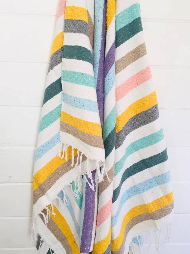 CABANA STRIPE SUNFLOWER BLANKET