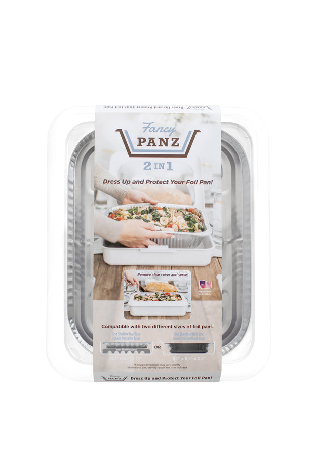 SET OF 2 FANCY PANZ | 2 IN 1 DECORATIVE FOIL PAN COVERS