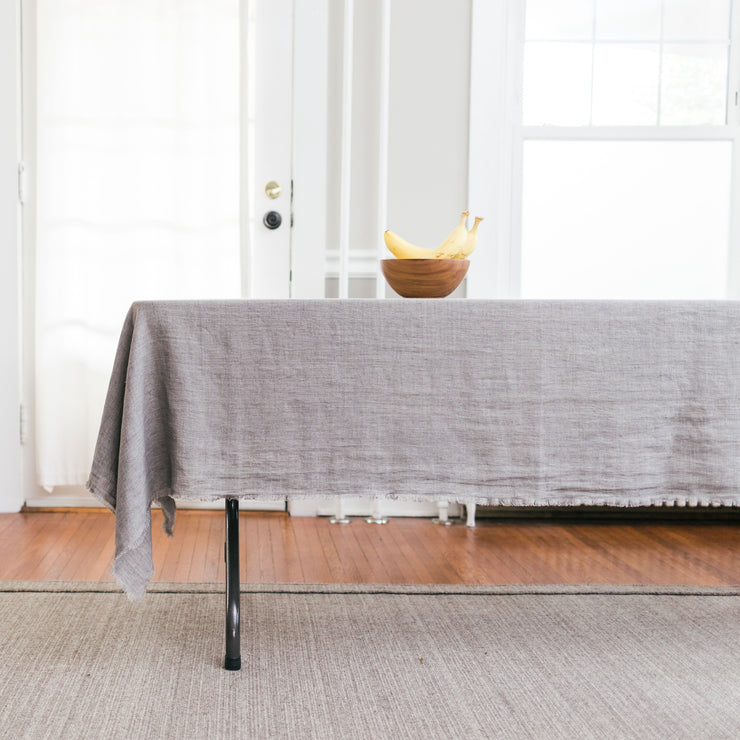 Hand Dyed Stonewashed Linen Table Cloth