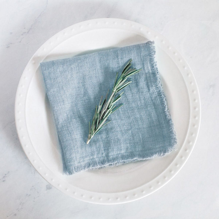 Hand Dyed Stonewashed Linen Napkin | Set of 4