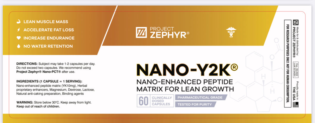 NANO Y2K Capsules 10mg x 60 - YK11 SARM Myostine >99% Purity - Nat Well Supplements