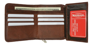 Leather Wallets For Women - Trifold Womens Wallet With Coin Purse