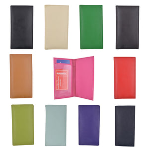 Wholesale Lots of Basic PU Leather Checkbook Covers ASSORTED COLORS - menswallet