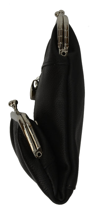 Genuine Leather Cigarette and Lighter Case with Twist Clasp 1838AL (C)