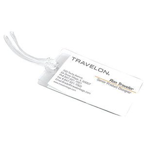 Travelon Set of 3 Self-Laminating Luggage Tags, Clear - wallets for men's at mens wallet