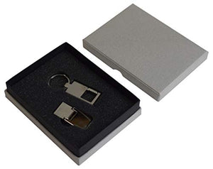 Men's Stainless Steel Slim Money Clip & Key Chain Combo Wallet Credit Card Key Holder - wallets for men's at mens wallet