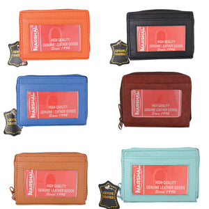Wholesale Leather Palm Size Accordion Style Credit Card ID Wallet Assorted Colors