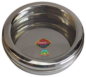 Plain Container Stainless Steel Box Shape Circular for Kitchen With Clear Screen and Clear Lid - wallets for men's at mens wallet