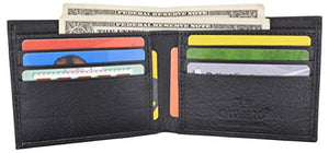 Cavelio Premium Leather Men's Slim Thin Classic Bifold Wallet - wallets for men's at mens wallet