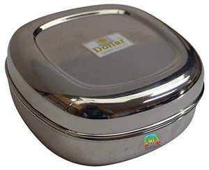 Stainless Steel Food Storage Container Plain Dibbi Kitchen - wallets for men's at mens wallet